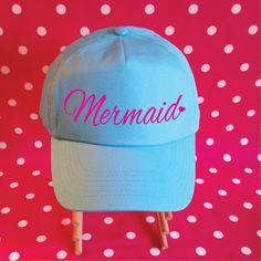 Mermaid Baseball Cap. Mermaid Hat. Mermaid Cap. Baseball Hat. Vacation Hat. Beach Hat. Mermaid Life. Be A Mermaid. Mermaid Gift. Adjustable. by SoPinkUK on Etsy