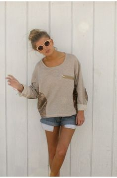 sequin trim sweater, i want this for summer
