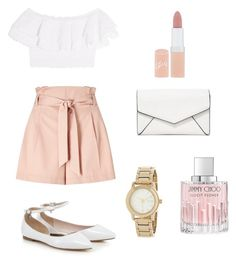 """Vintage"" by elisalong23 on Polyvore featuring Miss Selfridge, Alexander McQueen, LULUS, DKNY, Rimmel, Jimmy Choo and vintage"