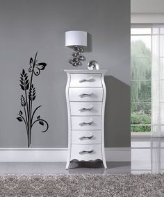 Adora, Romantic Curvy White Tallboy Chest of Drawers [Also in Silver] Living Room Lighting Design, Modern Lighting Design, Luxury Lighting, Modern Bedroom Furniture, White Furniture, Home Decor Bedroom, Furniture Design, Bedroom Ideas, Diy Interior