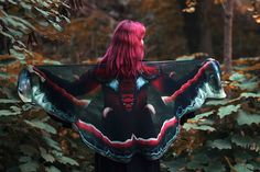 Hey, I found this really awesome Etsy listing at https://www.etsy.com/listing/475215726/cecropia-moth-butterfly-cape-chiffon