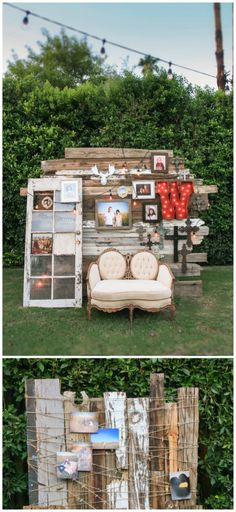 33 DIY Outdoor Photo Booth Ideas for Your Next Party Make it a party no one will ever forget. DIY Photo Booth Ideas For Outdoor Entertaining Photos Booth, Diy Photo Booth, Photo Booth Backdrop, Photobooth Idea, Photo Backdrops, Backdrop Ideas, Rustic Photo Booth, Prom Photo Booth, Diy Wedding Photo Booth