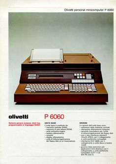 Olivetti P6060 Brochure, 1977(via 1000bit)