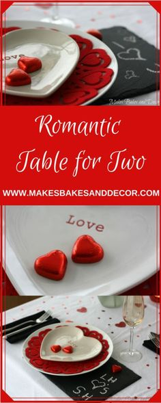 how to set your table for a romantic table for two. My valentines table setting. Table decor.
