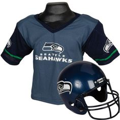Tackle the competition in a Seattle Seahawks Helmet Jersey Set! Our Seattle Seahawks Helmet Jersey Set features a football jersey with the team name on the front and a football helmet with the team logo. Seahawks Helmet, Seahawks Football, Seattle Seahawks, Football Helmets, Halloween Party Supplies, Halloween Costume Shop, Kids Party Supplies, Halloween Costumes For Kids, Football Birthday