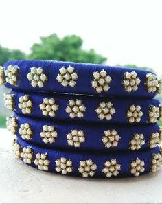 Silk Thread Bangles Design, Silk Bangles, Bridal Bangles, Thread Jewellery, Diy Jewellery, Bangles Making, Jewelry Making, Jewelry Sets, Saree Tassels