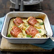 Proscuitto wrapped chicken breast with blue cheese