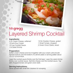 You've never had Shrimp Cocktail like this! Try our Layered Shrimp Cocktail recipe pairing this classic with cream cheese, green onion & tomato. #FoodieFriday