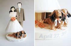 Concarta: Paper sculpture cake toppers for weddings, anniversaries and events: Dachshunds (and a Guest Book)