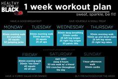 1 week workout plan.