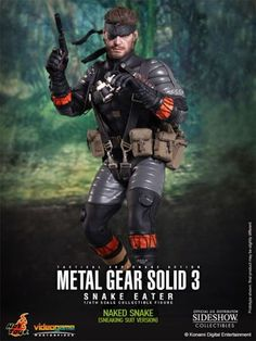 Naked Snake Sneaking Suit Version Figure from Metal Gear Solid 3. It is made by Hot Toys and is approximately 30 cm (11.8 in) high    Sideshow Collectibles and Hot Toys are proud to present the Naked Snake (Sneaking Suit Version) Sixth Scale Figure from the Metal Gear Solid 3: Snake Eater video game. The collectible is specially crafted based on the image of Naked Snake in Sneaking Suit Version in the video game, highlighting the newly developed head sculpt, highly detailed costume…
