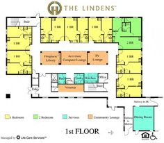 assisted living facility floor plans - Google Search