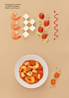 yum tang on Behance Food Graphic Design, Food Poster Design, Web Design, Food Design, Food Flatlay, Cookbook Design, Cuisines Design, Food Menu, Creative Food