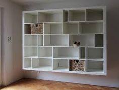 full wall bookshelves diy - Google Search