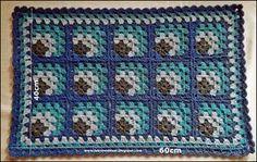 TAPETE DE BARBANTE PARA PORTA, croche de quadradinhos ou square