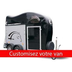 Sticker Autocollant pour Van Chevaux taille et couleur au choix