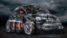 Frauen formen ein Auto
