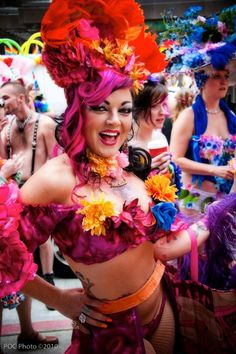 Fuchsia Foxxx at the Gay Pride Festival in Seattle
