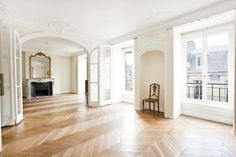 So, thanks to Little Green Notebook parquet floors are really growing on me.