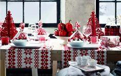mesa Navidad rojo y blanco | Estilo Escandinavo