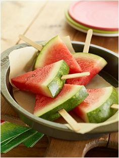Watermeloen lollies