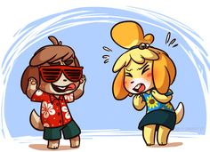 Digby: You actually expect the villagers to WEAR these things?? Isabelle: TH-THEY'RE THE HEIGHT OF FASHION! EVEN GRACIE GRACE MAGAZINE SAYS SO!
