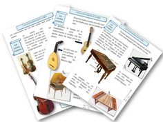 Education musicale : les familles d'instruments Piano Lessons, Music Lessons, School Organisation, Music Ed, Music School, Cycle 3, Montessori Activities, Music Classroom, Teaching Music