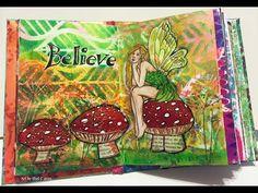 #NaNoJouMo Mixed Media Fairy Art Journal Page - YouTube