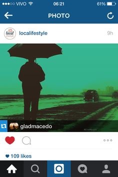 Gladcultura : Repost feito por @localifestyle no Instagram!  #instagram #top #photo #think #umbrella #man #rain #reflexion