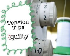 """Tension Tips: Mary Fons explains what """"tension"""" means in sewing machine terms. She'll help you understand how sewing machine tension works and offer some tips on what to do if something seems wonky. #video"""