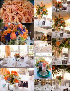 Kathleen Hertel Photography. Orange and Turquoise weddings