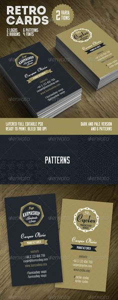 Retro Business Cards Template