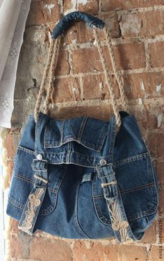 Handmade. Denim bag, purse, details, crafting idea, upcycle, recycle, jeans…