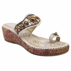 Bohemian Toe Ring and Beading Design Women's Slippers #>=#>=#>=#>=#> Click on the pin to check out discount price, color, size, shipping, etc. Save and like it!