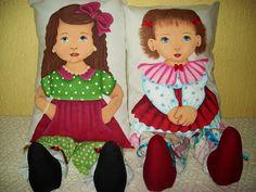 PINTURA EM TECIDO : Boneca Almofada