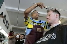 """More Than A Shave And A Haircut. First-time filmmaker is getting """"The Perfect Blend"""" at African-American barbershops Shaved Hair Cuts, Basketball Coach, Arts And Entertainment, Barber Shop, Filmmaking, Shaving, African, Cinema, Barbershop"""