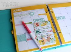 """Simple Stories """"Life Documented"""" Planner with Card from SS """"I Am"""" Collection"""