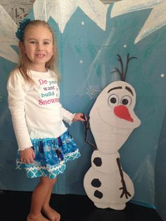 Custom Boutique Frozen Twirl Skirt by littlehcdesigns on Etsy