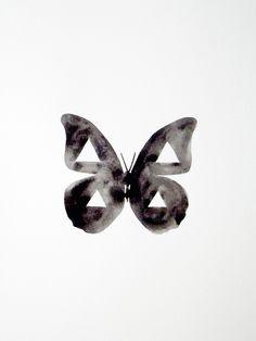 Geometric Butterfly - Original Watercolor.