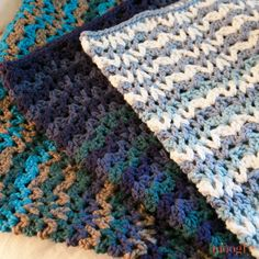 Vintage Wobble Afghan :: free #crochet pattern on moogly