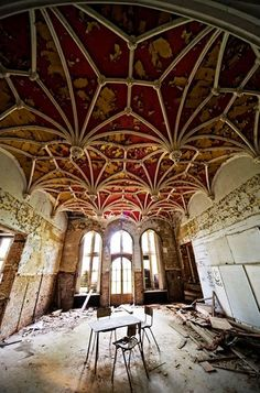 Beautiful, abandoned places...Chateau Miranda, Namur, Belgium.