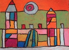 Paul Klee Castles for 3rd Grade