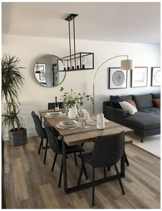 Home Room Design, Dining Room Design, Design Of Living Room, L Shaped Living Room Layout, Condo Design, Home Living Room, Small Living Rooms, Living Room Modern, Living Dining Combo