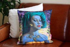 Tretchikoff design painting pillow Balinese Girl // Habitation Co. handmade fairtrade globally inspired goods for lifestyle & home via www.habitationco.com