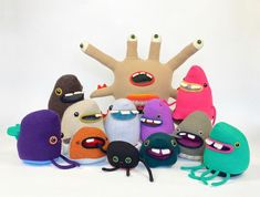 cute monster stuffed animals Monster Food, Need Friends, Cute Monsters, Stuffed Animals, Plushies, My Friend, Upcycle, Etsy Seller, Kids