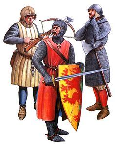 • Crossbowman, Crusades, c. 1200 • William Mareschal, c. 1219 • Sergeant, 1220-1300