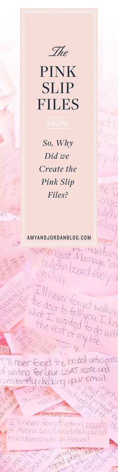 So why did we create The Pink Slip Files?