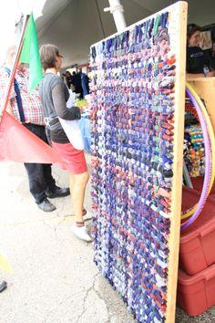 Maker Faire | Giant Potholder Rug Looms