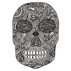 Día de los Muertos pigment liners on bristol board Illustrator and Designer Lorrie Whittington