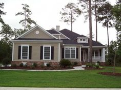 Best Tan Siding With Navy Shutters And White Trim Love 400 x 300